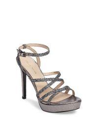 Pelle Moda | Metallic Platform Ankle Strap Sandal | Lyst