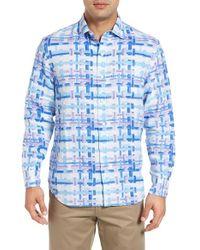 Tommy Bahama | Blue Shoreline Breezer Linen Sport Shirt for Men | Lyst