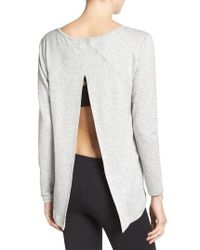 Zella | Gray Up & Away Pullover | Lyst
