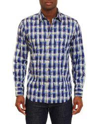 Robert Graham   Blue Classic Fit Sport Shirt for Men   Lyst