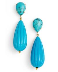 Zenzii | Blue Teardrop Earrings | Lyst