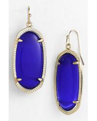 Kendra Scott - Blue 'elle' Drop Earrings - Lyst