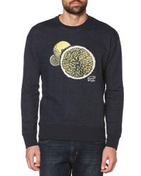 Original Penguin - Gray Lemon Crewneck Sweatshirt for Men - Lyst
