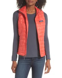 Patagonia - Red 'nano Puff' Insulated Vest - Lyst