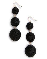 BaubleBar | Black Crispin Drop Earrings | Lyst