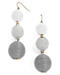 BaubleBar | Gray Crispin Drop Earrings | Lyst