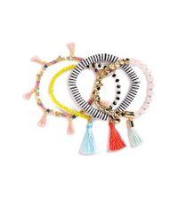 BaubleBar - Black Quinn Set Of 4 Bracelets - Lyst