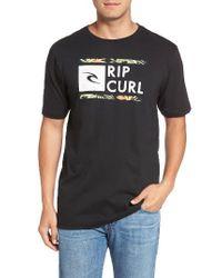 Rip Curl - Black Underdrive Classic T-shirt for Men - Lyst