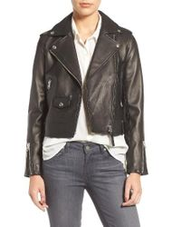 Mackage | Black Leather Moto Jacket | Lyst