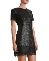 Dress the Population | Black Emma Sequin Minidress | Lyst