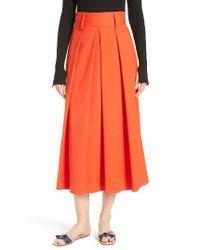 Tibi | Multicolor Agathe High Waist Pleated Midi Skirt | Lyst