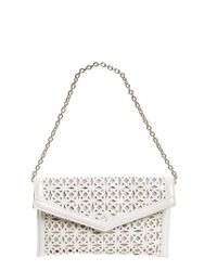 Sondra Roberts   White Perforated Faux Leather Clutch   Lyst
