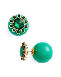 kate spade new york | Green Second Nature Front/back Earrings | Lyst