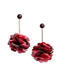 Kate Spade | Red Rosy Outlook Statement Earrings | Lyst