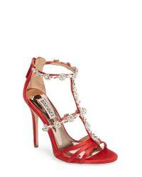 Badgley Mischka | Multicolor Thelma Crystal Sandal | Lyst