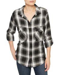 Sanctuary   Black Plaid Boyfriend Shirt   Lyst