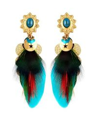 Gas Bijoux | Blue Small Sao Feather Earrings | Lyst