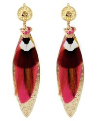 Gas Bijoux | Pink Large Sao Drop Earrings | Lyst