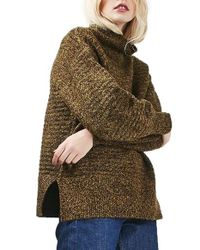 TOPSHOP | Brown Oversize Cocoon Sweater | Lyst