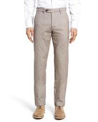 Ted Baker | Natural Volvek Classic Fit Trousers for Men | Lyst