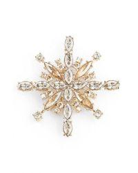 St. John | Metallic Swarovski Crystal Pin | Lyst