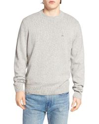 Psycho Bunny | Gray Wool Blend Sweater for Men | Lyst