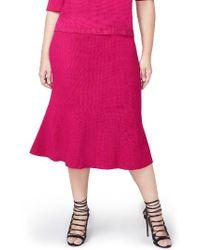 Rachel Roy   Pink Pebble Jacquard Fit & Flare Skirt   Lyst