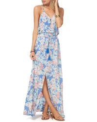 Rip Curl | Blue Mia Flores Maxi Dress | Lyst