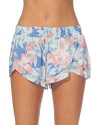 Rip Curl | Blue Mia Flores Shorts | Lyst