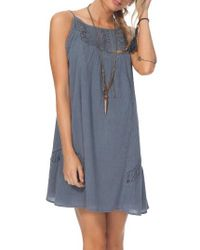 Rip Curl - Blue Silver Sun Swing Dress - Lyst