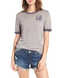 Rip Curl | Gray 1970 Graphic Ringer Tee | Lyst