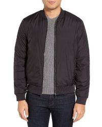 HUGO | Black Boss Skyles Bomber Jacket for Men | Lyst