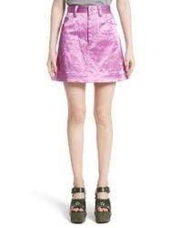 Marc Jacobs | Pink Satin Miniskirt | Lyst