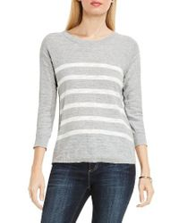 Two By Vince Camuto | Gray Stripe Pullover | Lyst