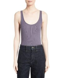 VINCE | Purple Pima Cotton & Modal Tank | Lyst