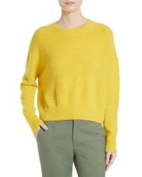VINCE | Yellow Boucle Dolman Pullover | Lyst