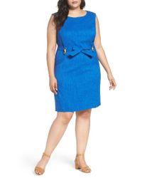 Ellen Tracy | Blue Kenya Sheath Dress | Lyst