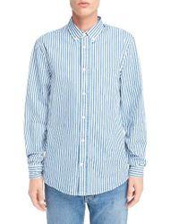 Acne | Blue Isherwood Stripe Sport Shirt for Men | Lyst