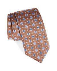 David Donahue - Brown Medallion Silk Tie for Men - Lyst