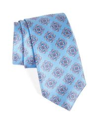 David Donahue | Blue Medallion Silk Tie for Men | Lyst