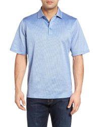 Bugatchi   Blue Mercerized Cotton Polo for Men   Lyst