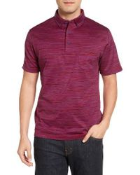 Bugatchi | Red Stripe Jersey Polo for Men | Lyst