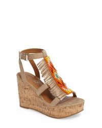 Ariat | Brown Unbridled Lolita Wedge Sandal | Lyst