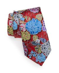 Ermenegildo Zegna | Red Quindici Floral Silk Tie for Men | Lyst
