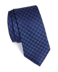Calibrate | Blue Clover Medallion Silk Tie for Men | Lyst