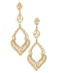Argento Vivo - Metallic Marquee Drop Earrings - Lyst