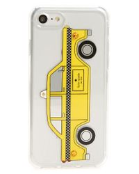 Kate Spade | Yellow Jeweled Taxi Iphone 7 Case | Lyst