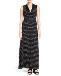 Vince Camuto | Black Stripe Maxi Dress | Lyst