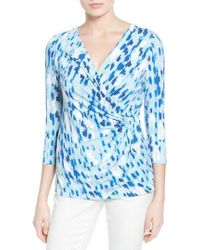 NIC+ZOE - Blue Water Lane Stretch-knit Top - Lyst