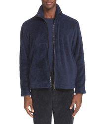 Our Legacy   Blue Funnel Neck Zip Front Polar Fleece Jacket for Men   Lyst
